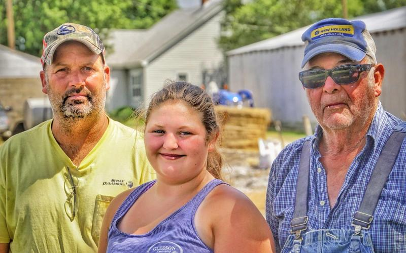 Three Generations Of The Vedders: Cliff, Maria, Don Photo by Tony Carosella