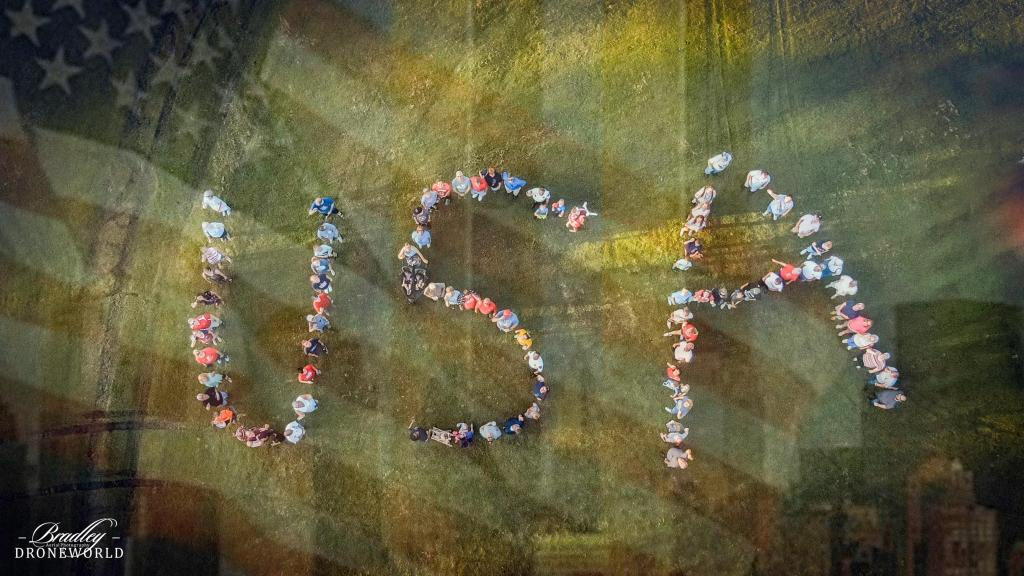 USA spelled by NH locals photo by Bryan Bradley